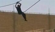 فیلم | فرار از بازداشت به شیوه مرد عنکبوتی در آبادان