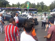 عکس | واژگونی خودرو در بزرگراه شهید سلیمانی