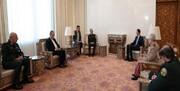 رئیس ستاد کل نیروهای مسلح با رئیس جمهور سوریه دیدار کرد