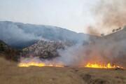 ارتفاعات کوه افزر همچنان در آتش میسوزد