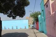 رنگ زندگیروی دیوارهای امید
