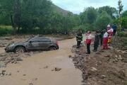 فیلم | تصادف و انحراف خودروها به رودخانه در روستای لیقوان