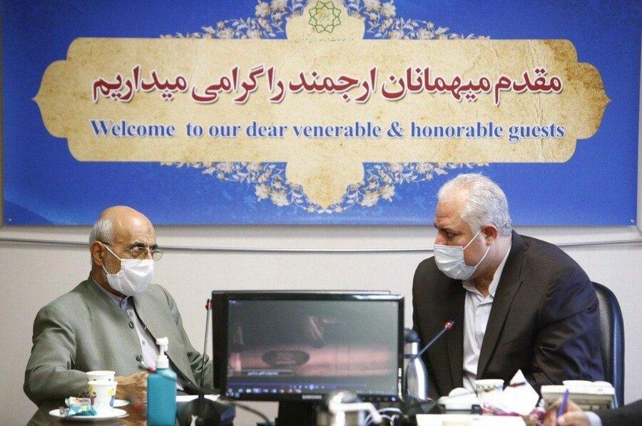 دیدار میرسلیم و بوچانی در مرکز مطالعات شهرداری تهران