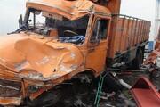 یک کشته و هفت مصدوم از اتباع خارجی در تصادف زنجیرهای نطنز-اصفهان