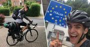 ۴۸ روز دوچرخهسواری دانشجوی یونانی برای رسیدن به خانه