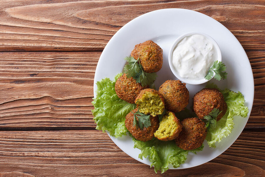 طرز تهیه فلافل خوشمزه | فوتوفن پخت فلافل لبنانی در خانه