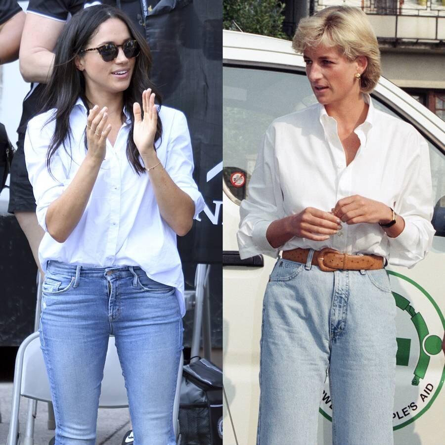 استایل غیررسمی، شومیز سفید و شلوار جین