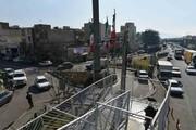 جانمایی پل موتورسوار در میدان ثامن الحجج(ع)