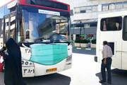 عکس | اتوبوسهای مشهد ماسک زدند