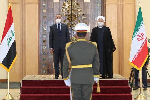 تصاویر استقبال روحانی از الکاظمی