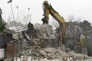 تخریب ساخت و سازهای غیرمجاز در حاشیه تالاب زریوار