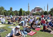 تصاویر | نخستین نماز جمعه مسجد ایاصوفیه پس از ۸۶ سال