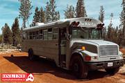 تصاویر | زندگی در یک اتوبوس مدرسه