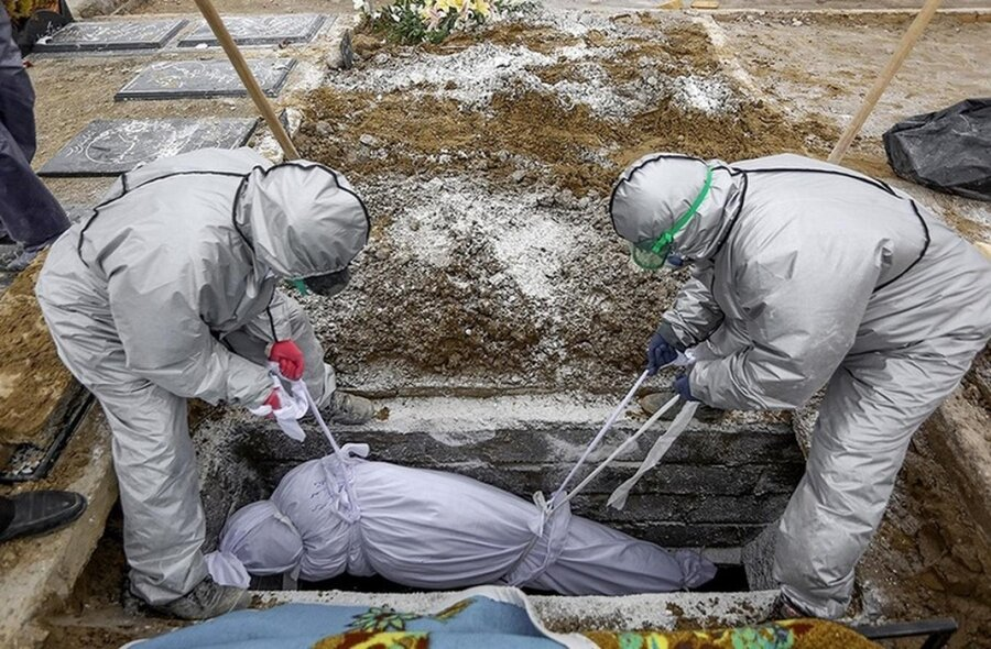 دفن ـ کرونا