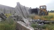 ۴ بنای غیرمجاز در اراضی زراعی کامیاران تخریب شد