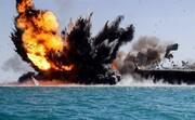 تصاویر | لحظه اصابت موشک کروز به ماکت ناو هواپیمابر آمریکایی | هلیبرن تکاوران دریایی روی عرشه