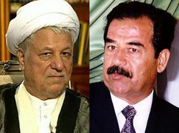 هاشمی رفسنجانی صدام حسین