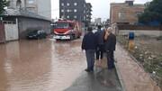 بارش باران و آبگرفتگی معابر و تخریب خانهها در خلخال