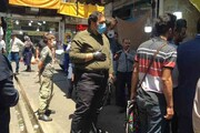 پلمب واحد تجاری متخلف در بازارچه شهرستانی