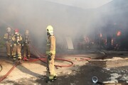 آتشسوزی در کارگاه مبلسازی در اسلامشهر