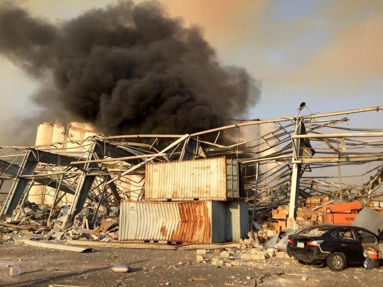 تصاویر بیروت لحظاتی پس از انفجار
