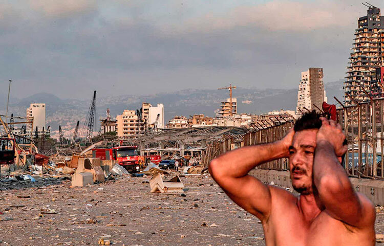 ويرانيهاي انفجار بيروت
