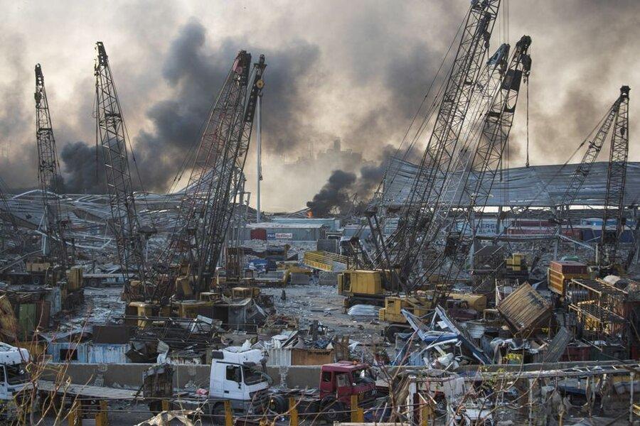 انفجار بندر بيروت