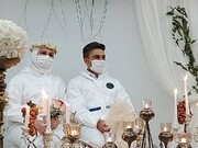 عکس | پوشش متفاوت زوج اهوازی به جای لباس عروسی