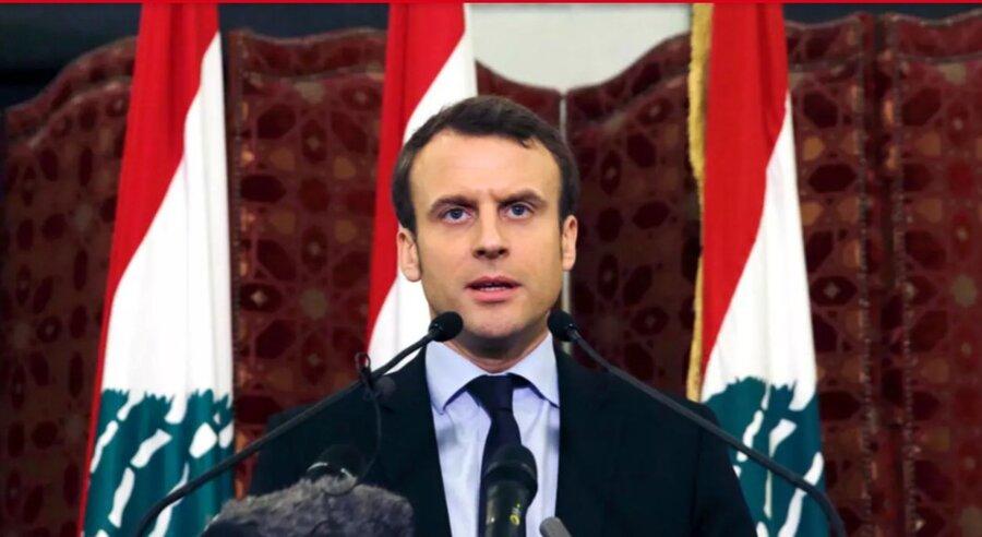 امانوئل مکرون در لبنان