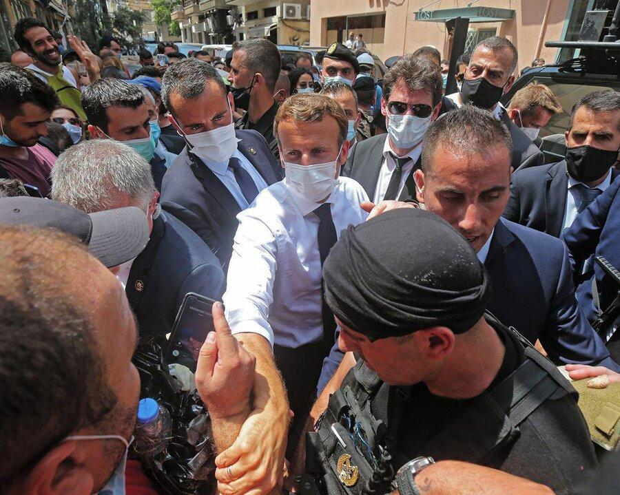 مکرون در بیروت