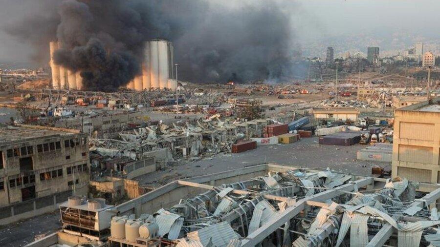 خرابی های انفجار بیروت