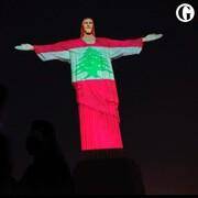 لبنان در آغوش مجسمه مسیح در برزیل