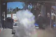 ویدئو   لحظه انفجار نیسان آبی در یک جایگاه سوخت