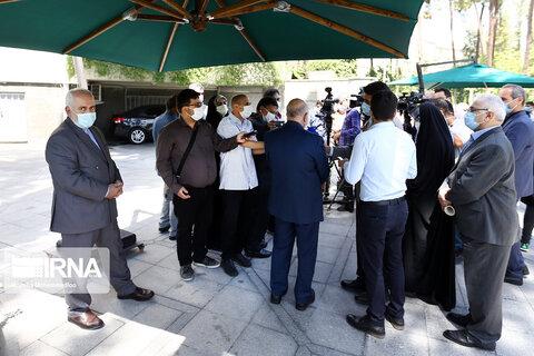 تصاویر وزیران پس از جلسه هیات دولت