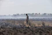 ۱۰ هکتار از مراتع دشت بشکان در آتش سوخت