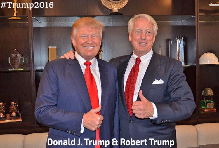 دانلد ترامپ و برادرش رابرت ترامپ در 2016