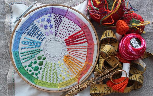 تصاویر   20 مدل دوخت ساده برای خلق تابلوهای زیبای گلدوزی