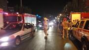 تصاویر آتشسوزی مرکز توانبخشی سالمندان در غرب تهران که یک کشته بر جا گذاشت