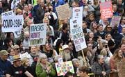 تصاویر | اروپا علیه ماسک و واکسن کرونا | کرونا کار بیل گیتس است! | مرکل باید برود
