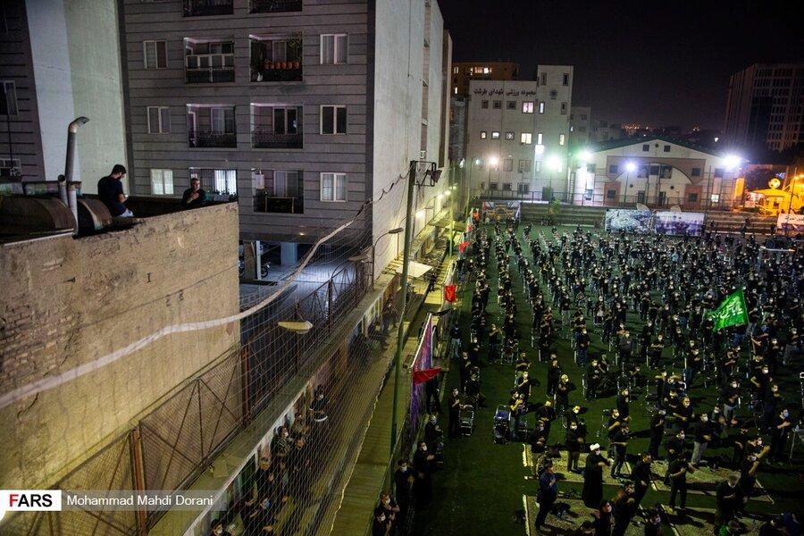 مراسم شب تاسوعا در بقعه شیخ طرشتی