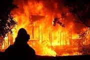 شعلههای آتش ۱۱ گاو را در ایوان سوزاند