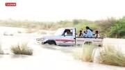 فیلم   طغیان رودخانههای دشتیاری راه دسترسی ۲۵۰۰ نفر را بست