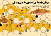 اینفوگرافیک   درمان این ۲۰ بیماری با معجون دارچین و عسل