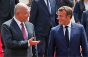 تصاویر | ورود امانوئل مکرون به عراق با استقبال رسمی برهم صالح