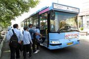 خدماترسانی رایگان ناوگان اتوبوسرانی بندرعباس در روز اول مدرسه