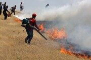 مهار آتشسوزی عرصههای طبیعی گچساران پس از ۴ روز