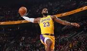 عکس   رکورد شکنی لبران جیمز در NBA