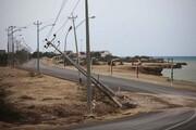 خسارت باد شدید به تاسیسات برق در باشت