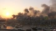 تصاویر فرار مردم از آتش بیروت | واکنش مدیرکل بندر بیروت