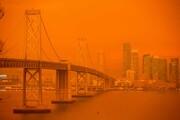 عکس روز | آسمان نارنجی سانفرانسیسکو